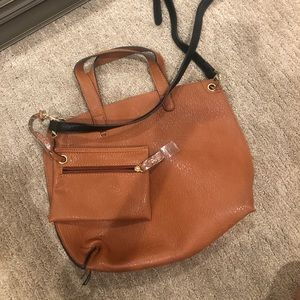 Reversible brown and black bag